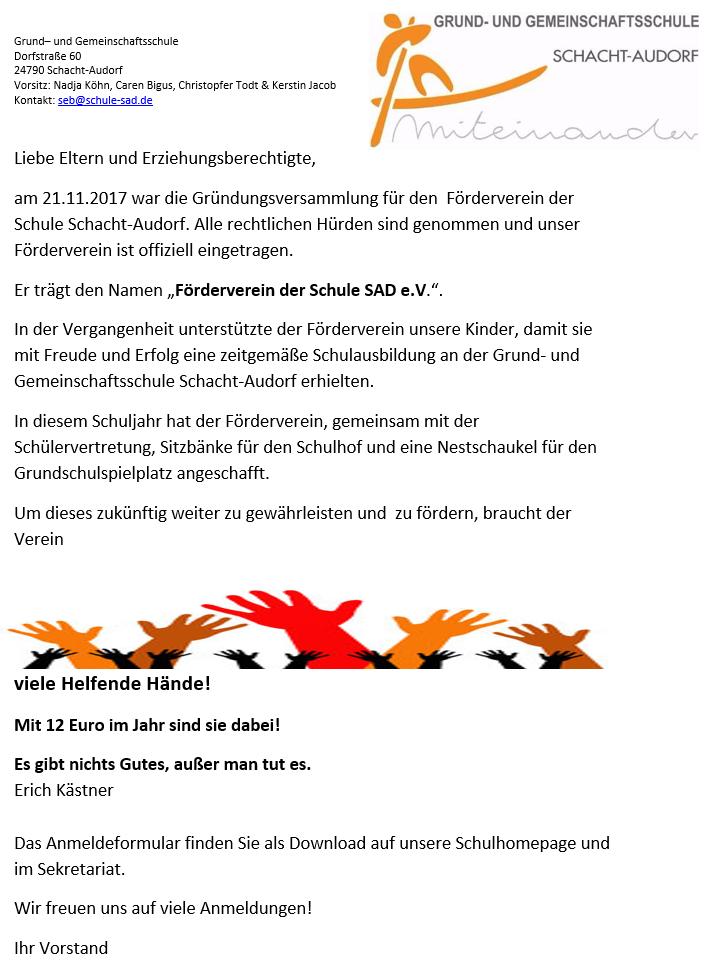 Förderverein der Schule SAD e.V. – Grund- und Gemeinschaftsschule ...